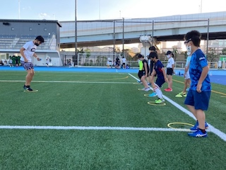 舘野哲也コーチによる接地のトレーニング